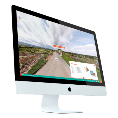 virtual tour multiple screens